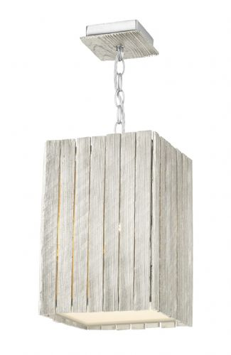 Dar Whistler 1 Light Pendant Small Distressed Silver WHI0132 (Hand made, 7-10 day Delivery)